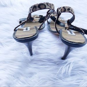 Manolo Blahnik Shoes - Manolo Blahnik Leopard Print Strapy Heels Shoes